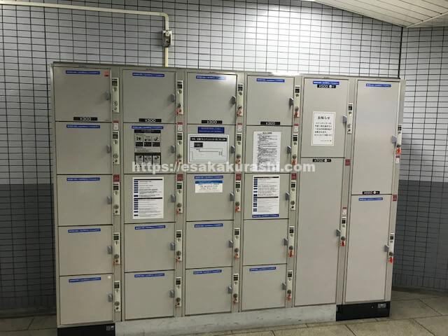 江坂駅北改札側のコインロッカー