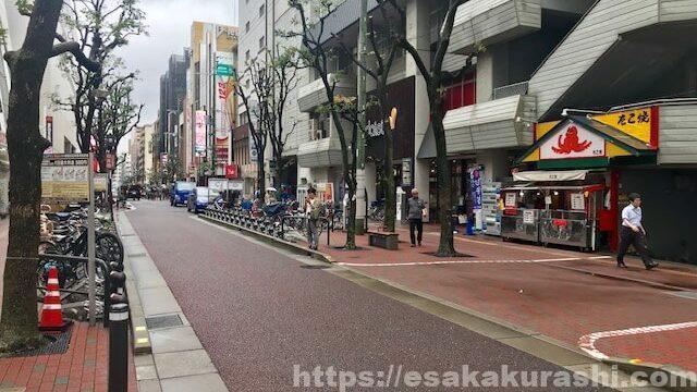 大塚屋江坂に向かう途中の道
