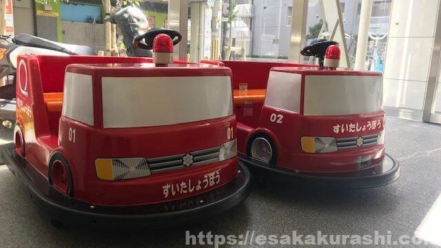吹田西消防署内の消防車