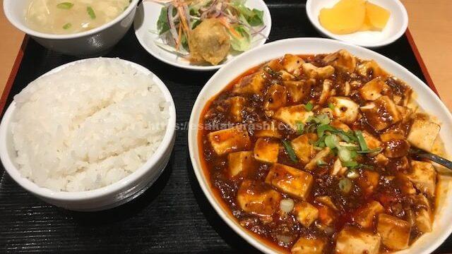 純華楼の麻婆豆腐