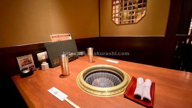 江坂焼肉哲の個室