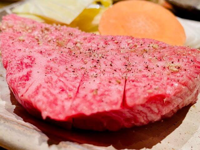 焼肉処哲黒毛和牛ステーキ定食