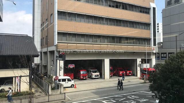 吹田西消防署の向かいのビル