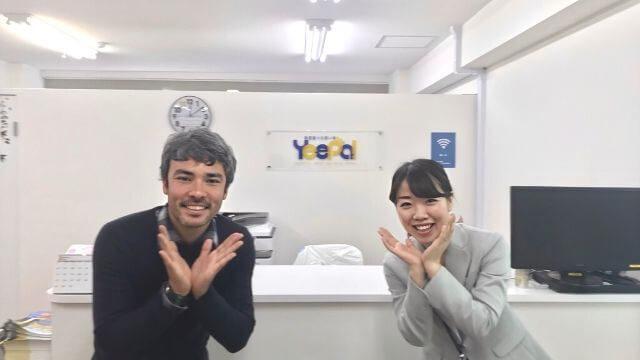 YeePa店長の服部さんとフットサルコーチの岡崎先生