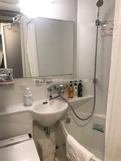 アパホテル江坂のシャワールーム
