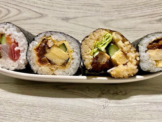 江坂の恵方巻食べ比べ